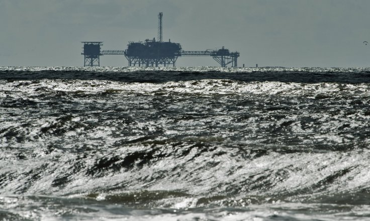 Offshore drilling near Dauphin Island, Alabama
