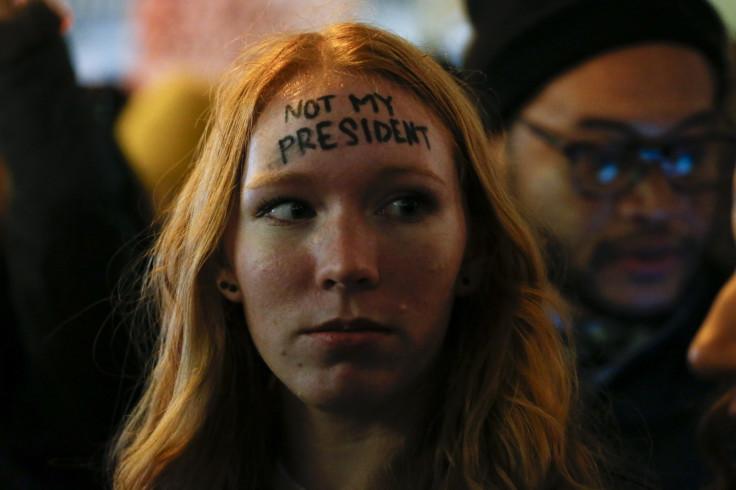 Women protest Donald Trump