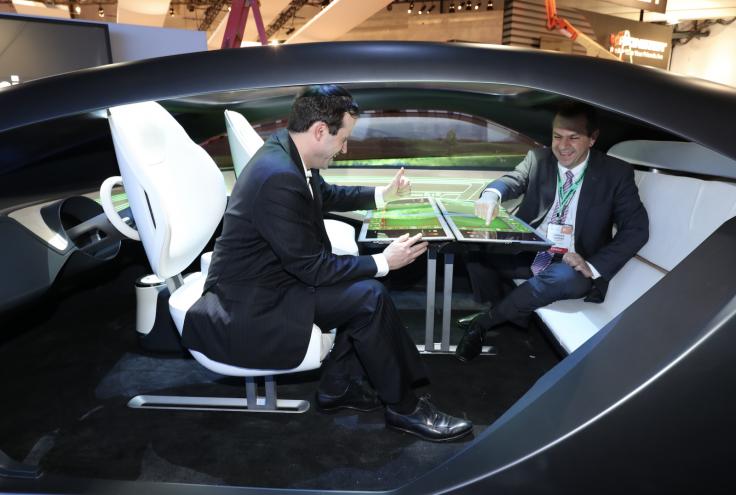 Panasonic autonomous car interior concept