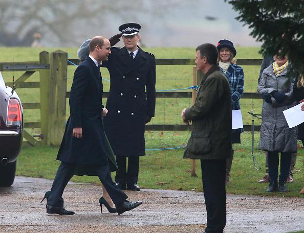 Royals attends Sunday church service