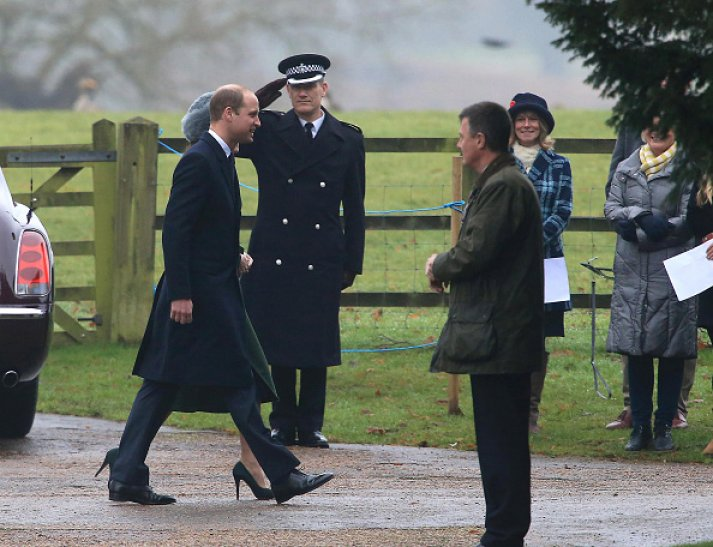 Royals attends Sunday church service