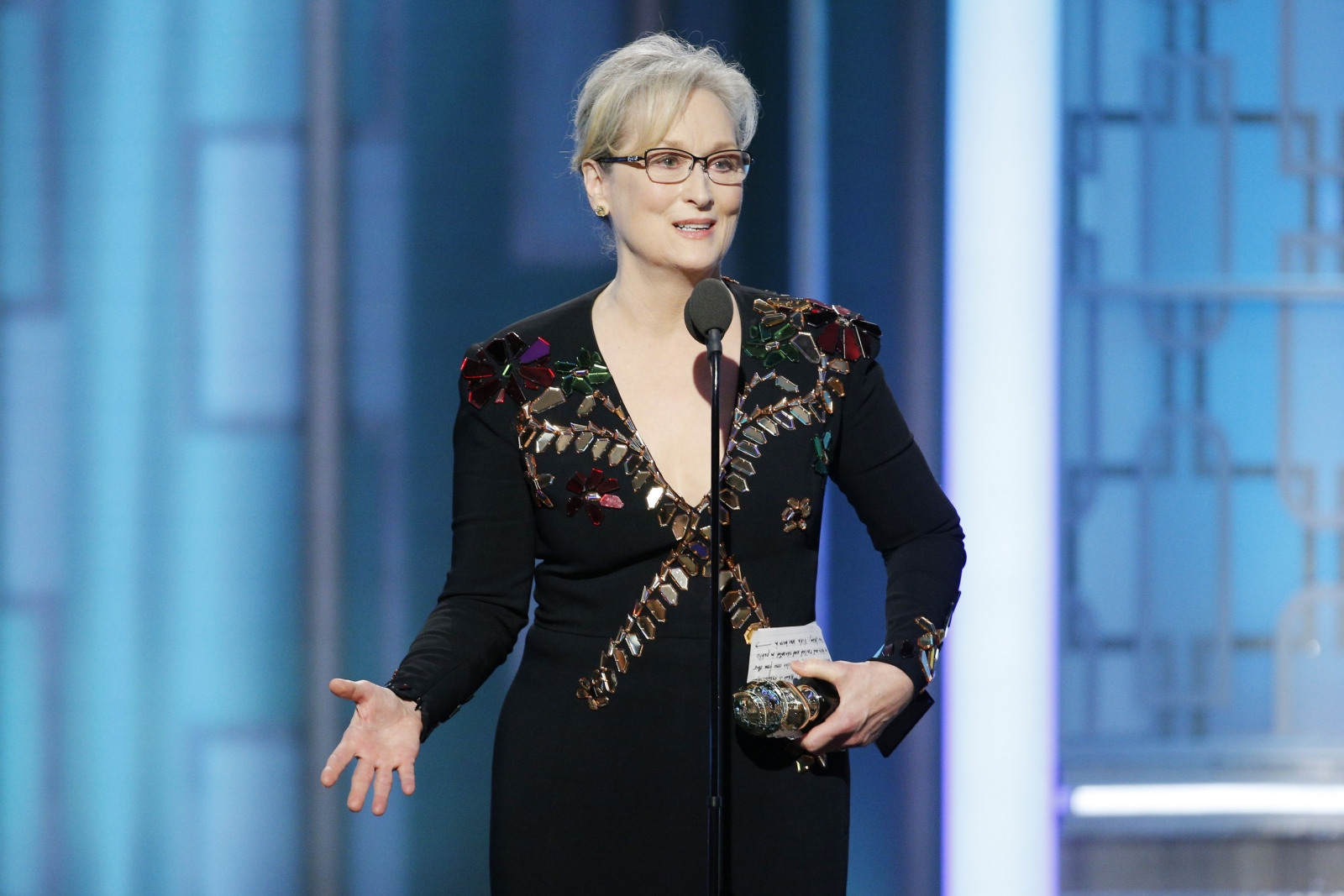 Meryl Streep at Golden Globes 2017
