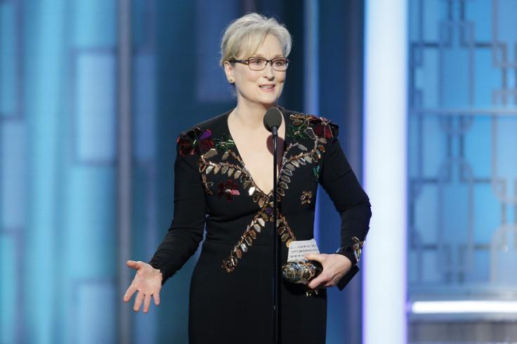 Meryl Streep at Golden Globes 2017