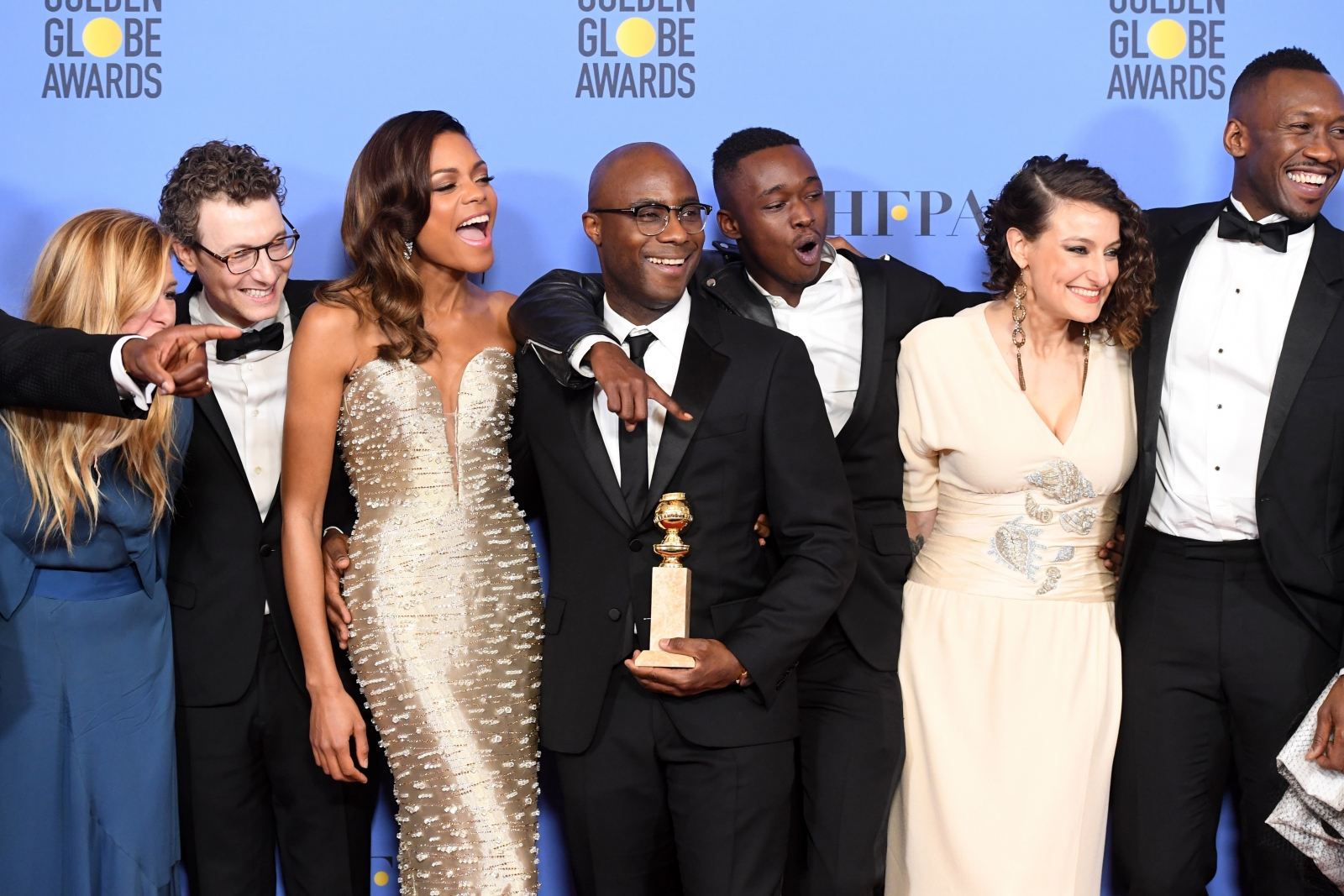 Barry Jenkins and the cast of Moonlight