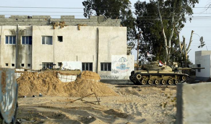 Checkpoint at al-Arish in the Sinai Peninsula