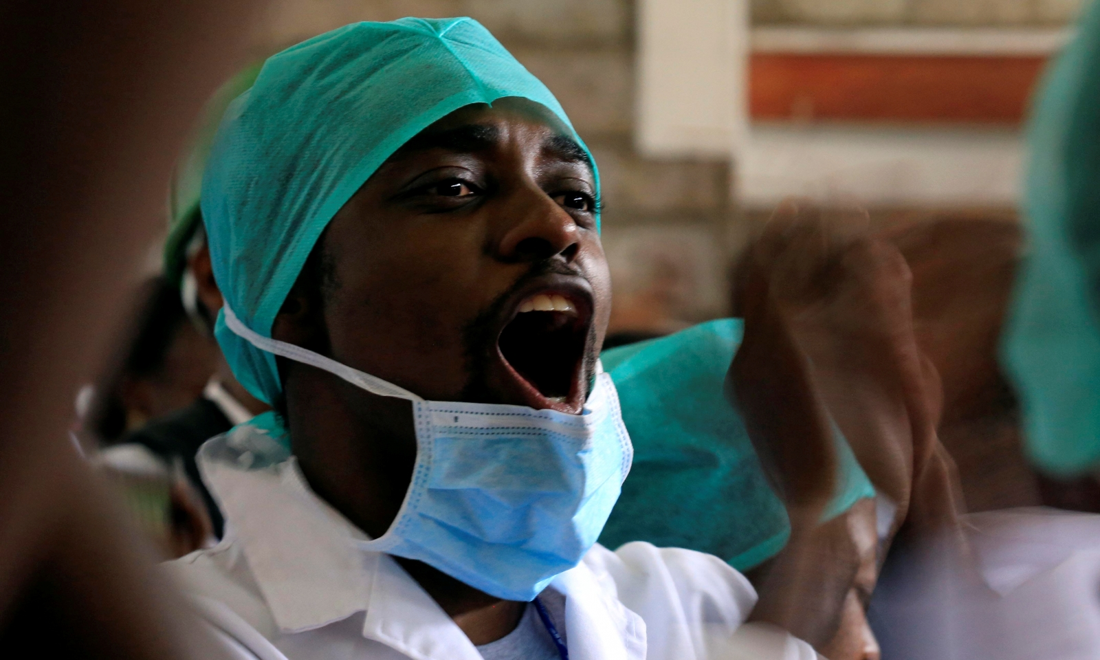 Kenyan doctors on strike