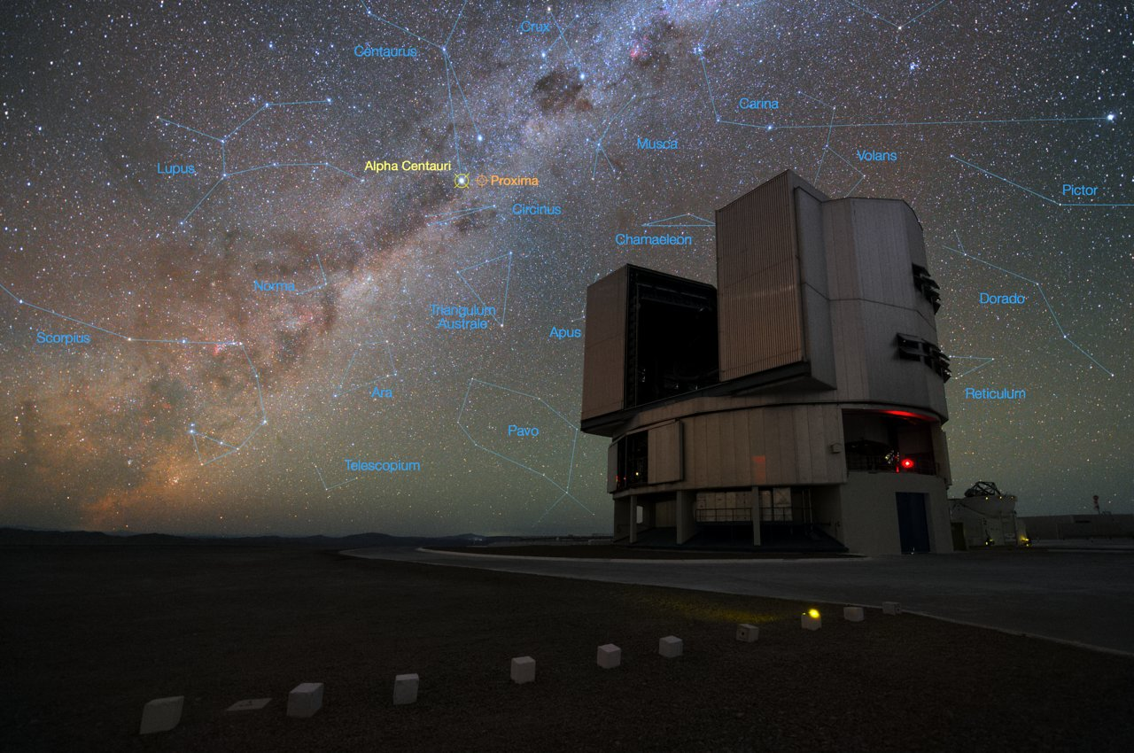 The VLT gears up to look for planets in Alpha Centauri