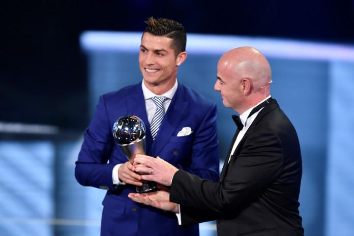 Cristiano Ronaldo and Gianni Infantino