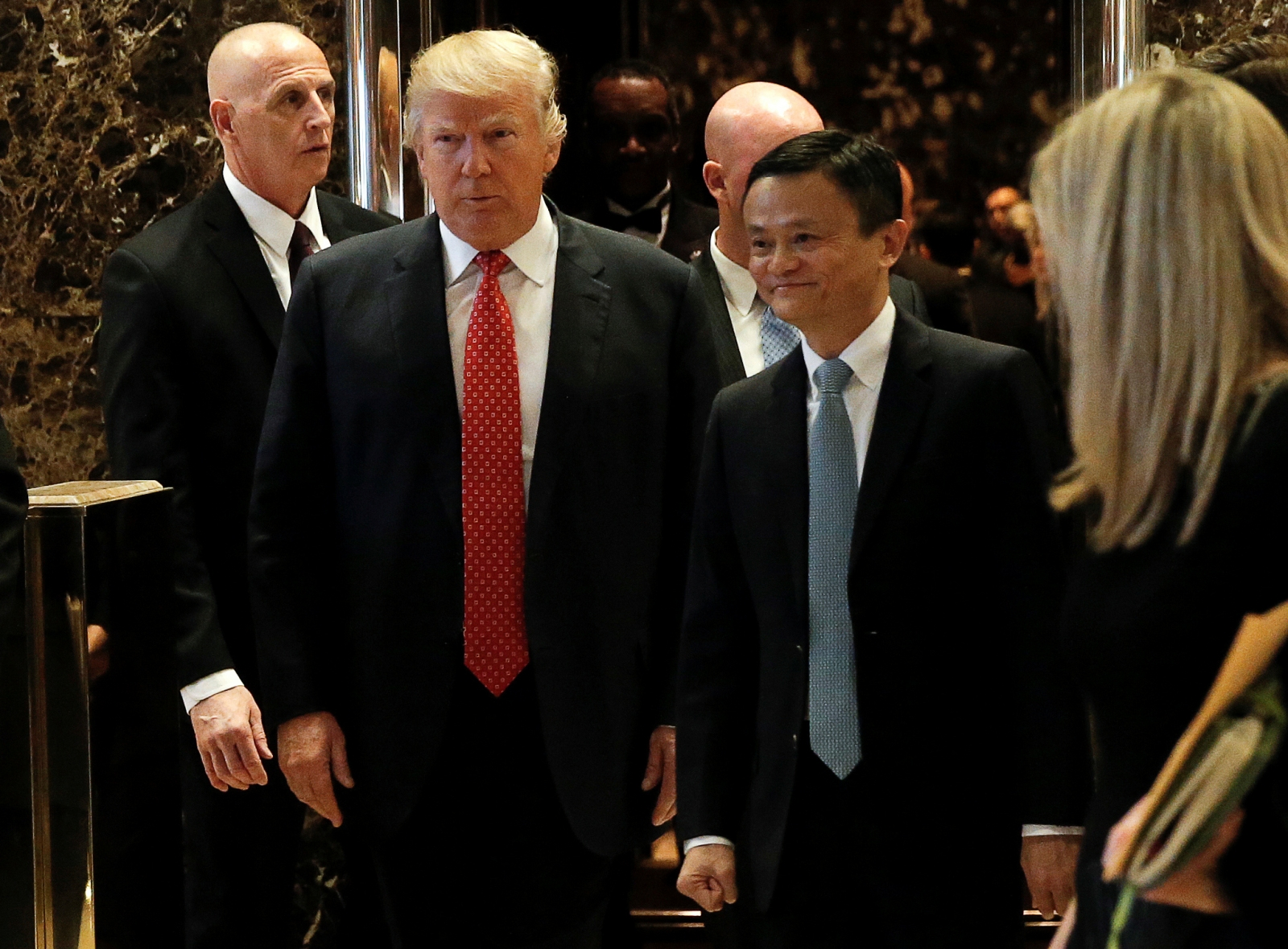 Donald Trump met Alibaba founder, Jack Ma