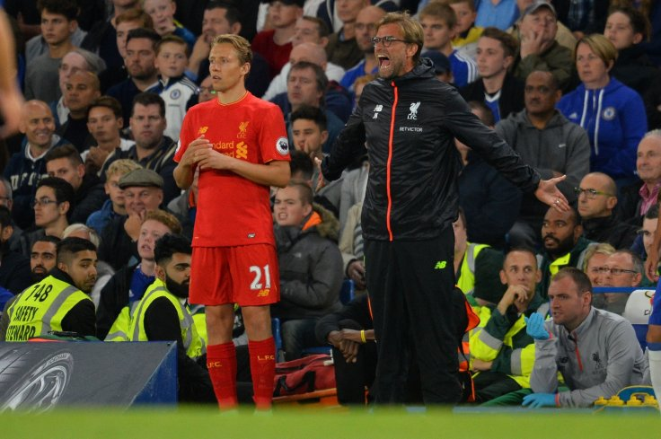 Lucas Leiva and Jurgen Klopp
