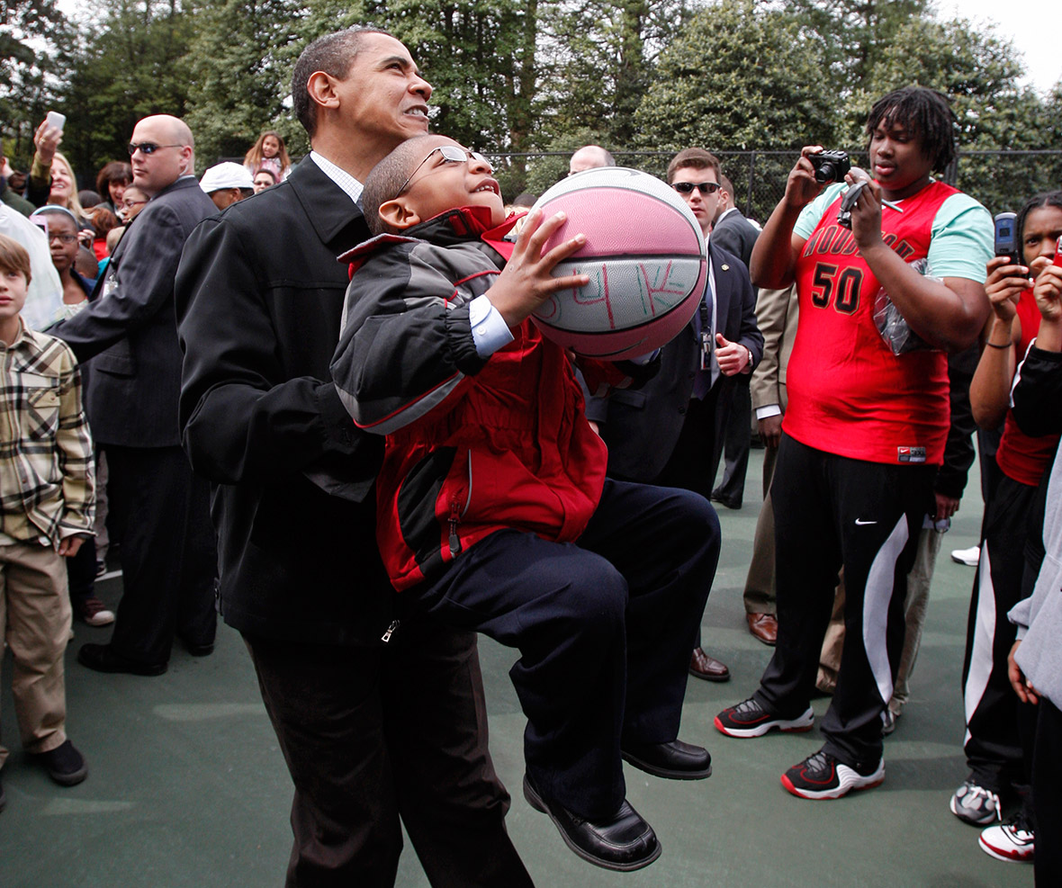 Obama with children