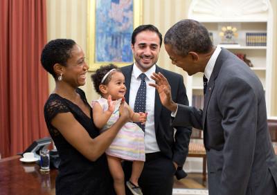 Obama with children