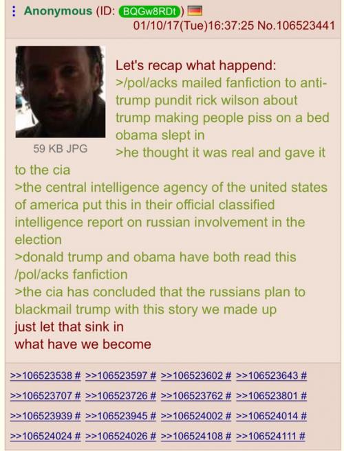 4 Chan Trump dossier claim