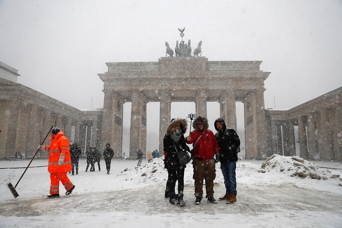 winter weather Europe snow
