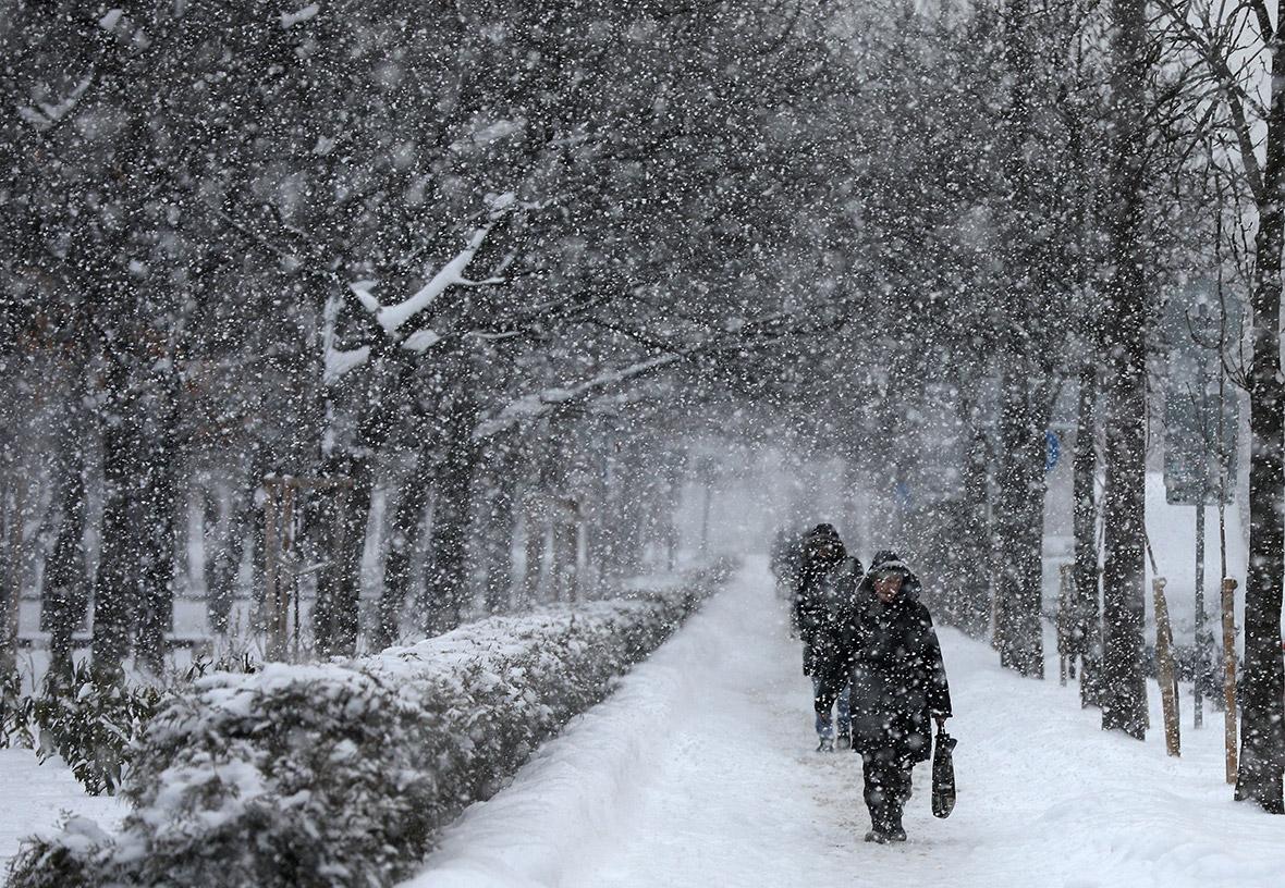 winter weather Europe snow