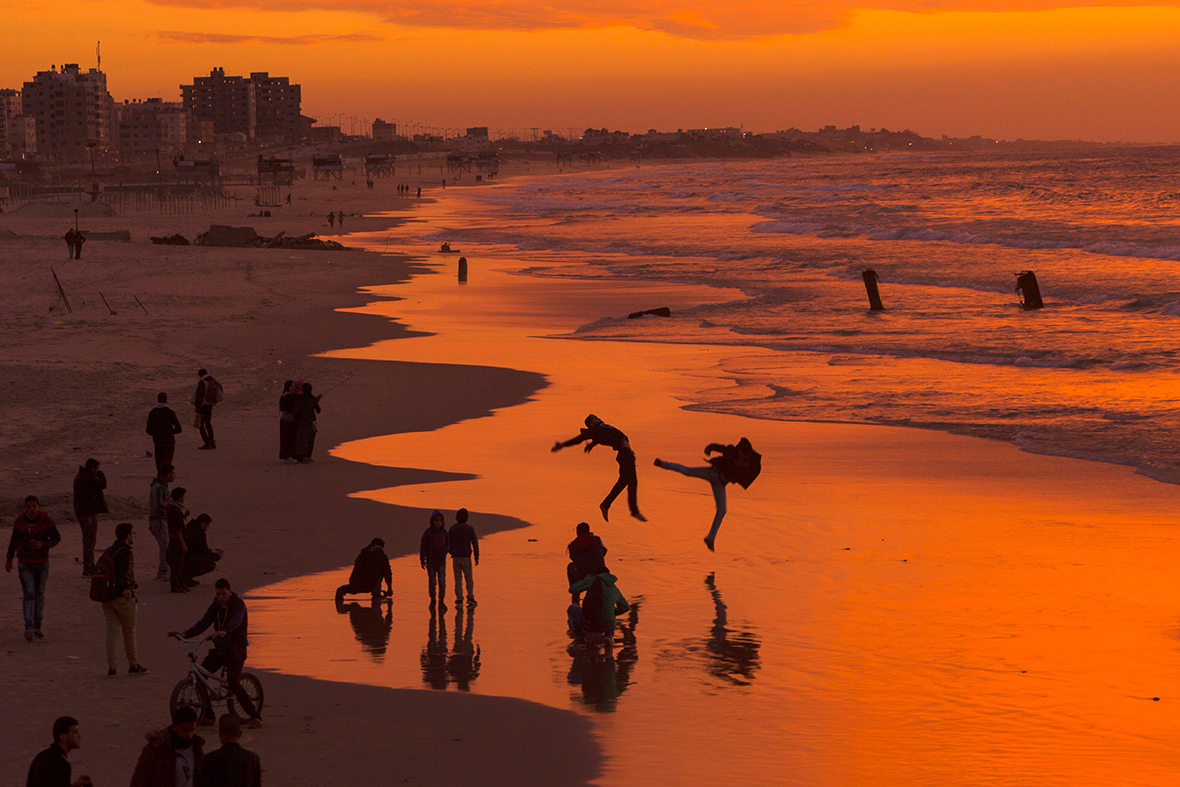 Gaza City sunset