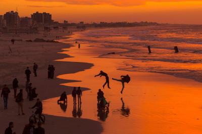 Gaza City sunset
