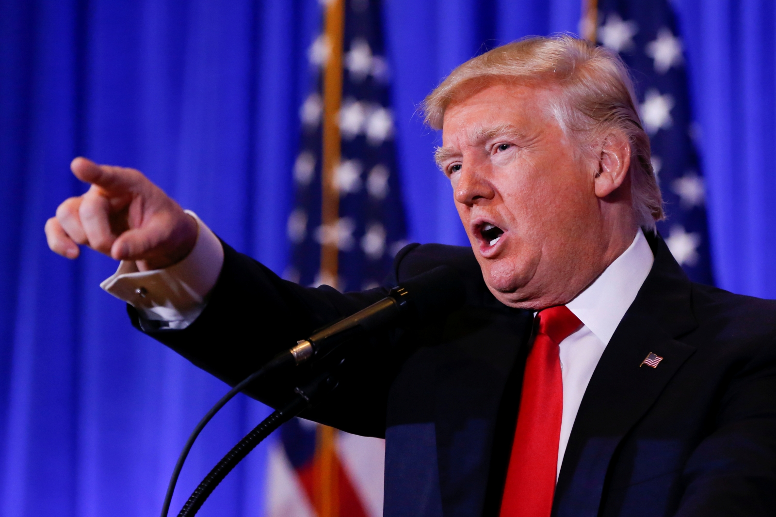 U President-elect Donald Trump speaks at a conference in New York
