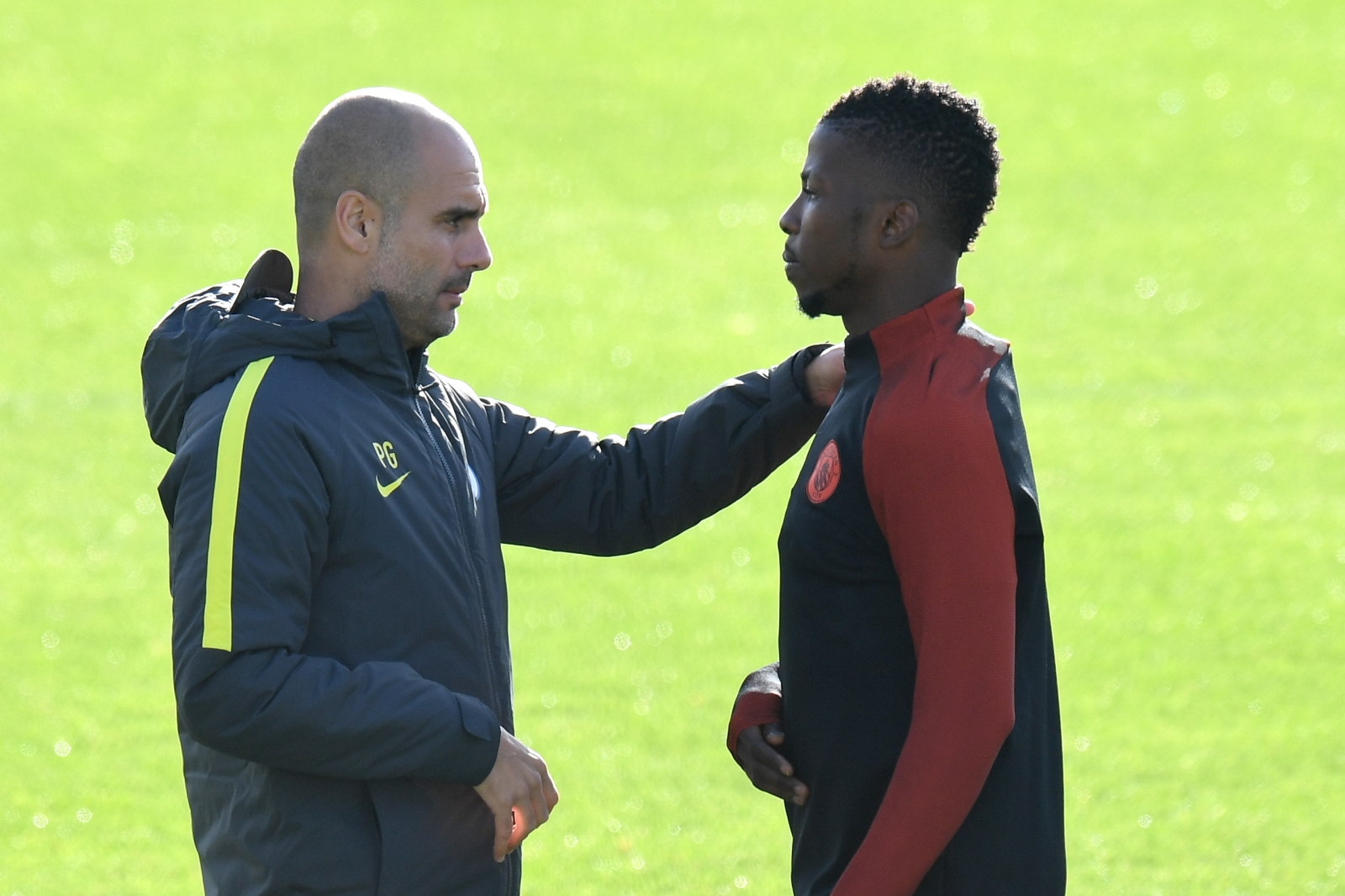 Kelechi Iheanacho and Pep Guardiola