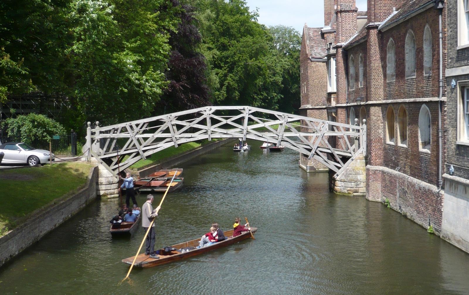 Cambridge University punting Mathematicians' bridge