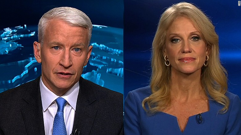 Anderson Cooper clashes with Kellyanne Conway