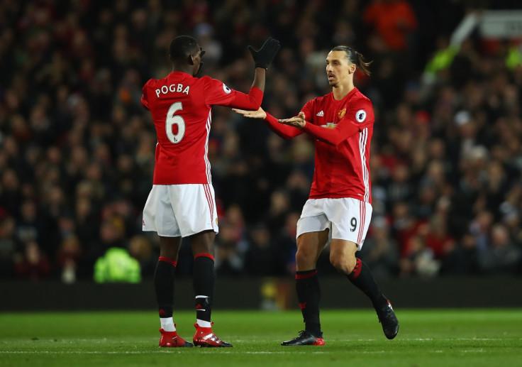 Paul Pogba and Zlatan Ibrahimovic.