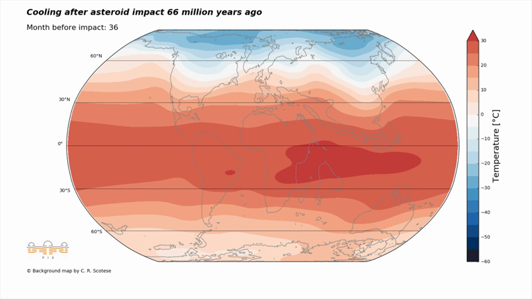 Here's what happened to global temperatures after the dinosaur-killing asteroid struck