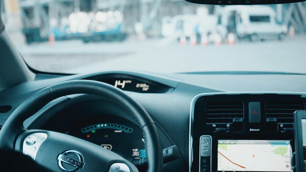 Autonomous Nissan Leaf electric car