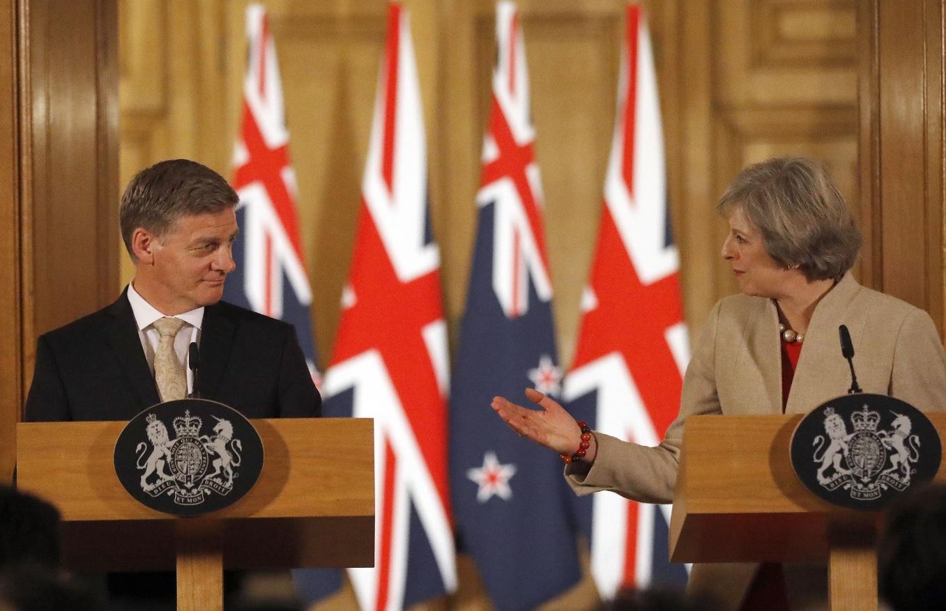 Bill English and Theresa May