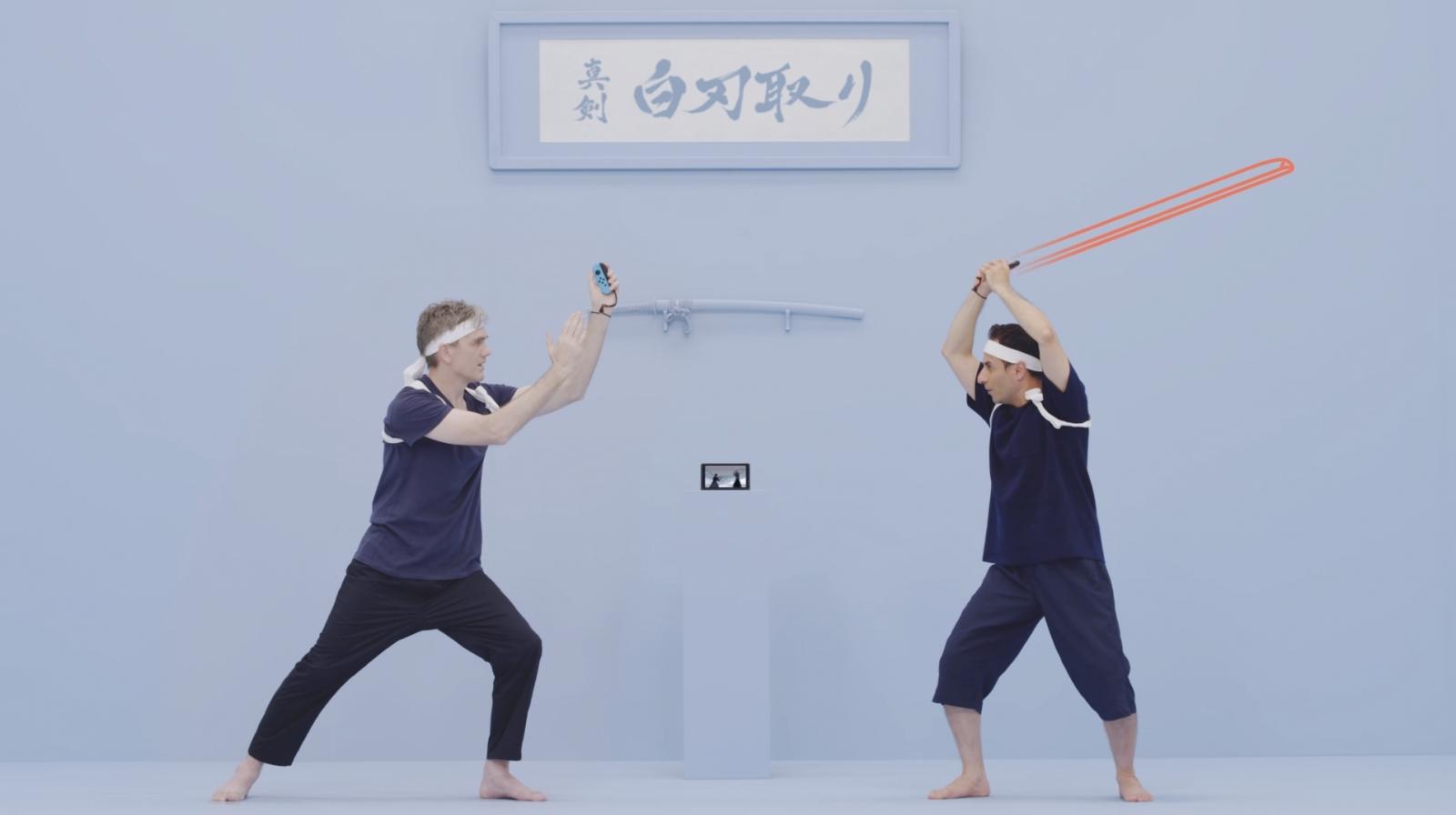 Switch 1-2 samurai sword game