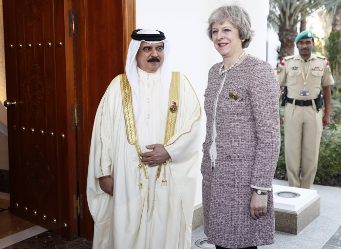 Theresa May King Bahrain 2016