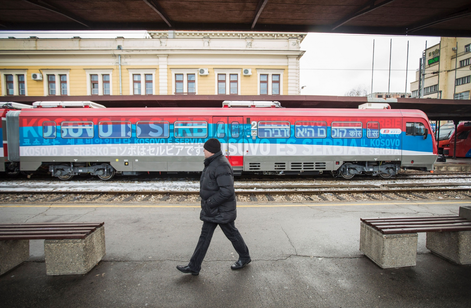 Serbia Kosovo tensions train