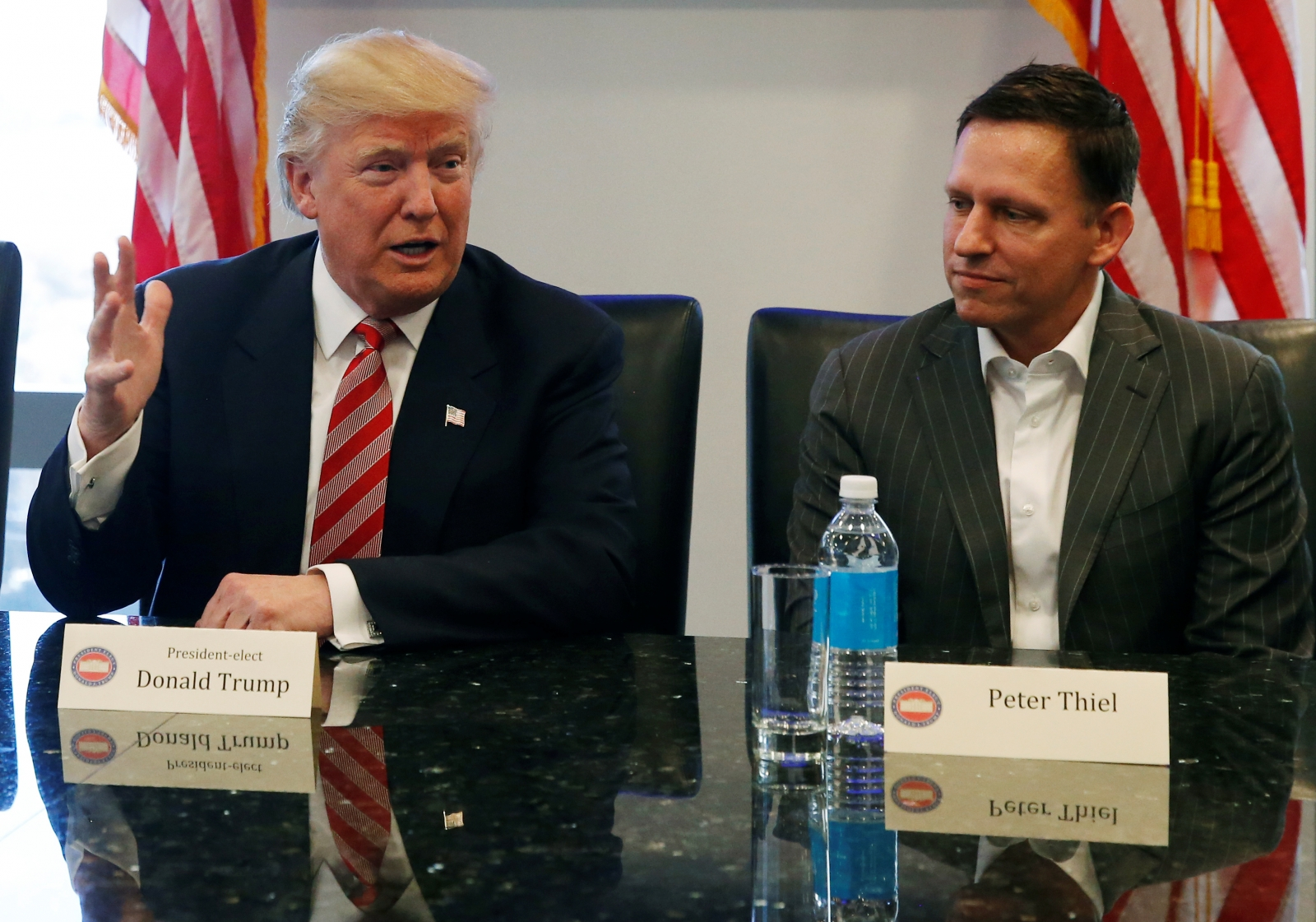 donald trump peter thiel PayPal