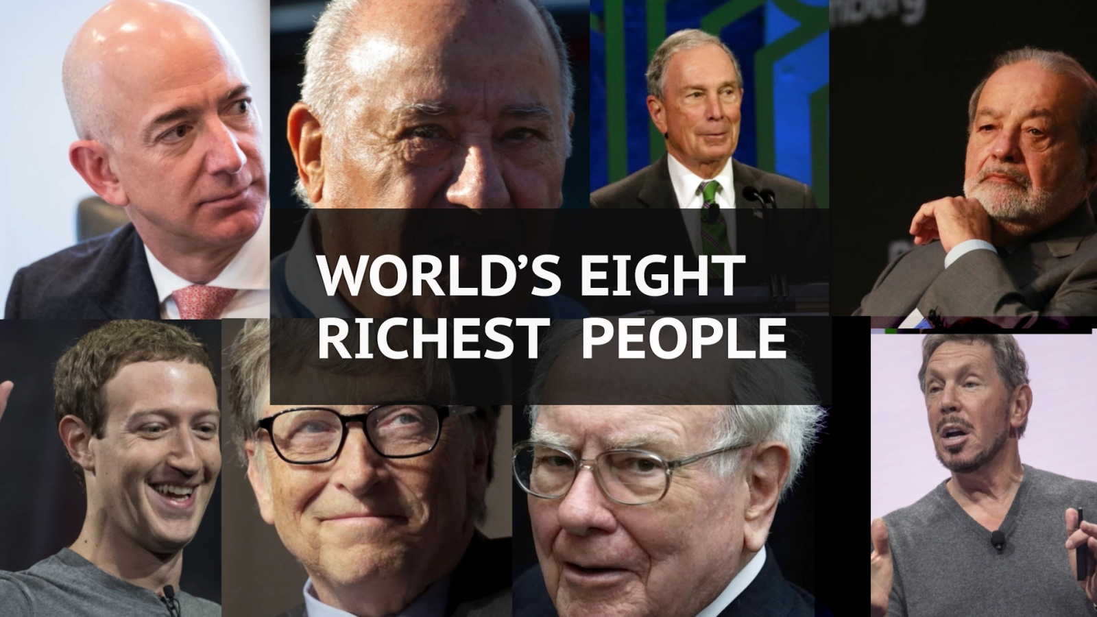 World's eight richest people