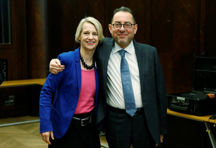 Helga Stevens and Gianni Pittella