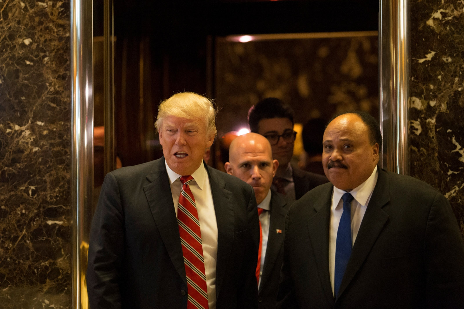 Donald Trump, Martin Luther King III