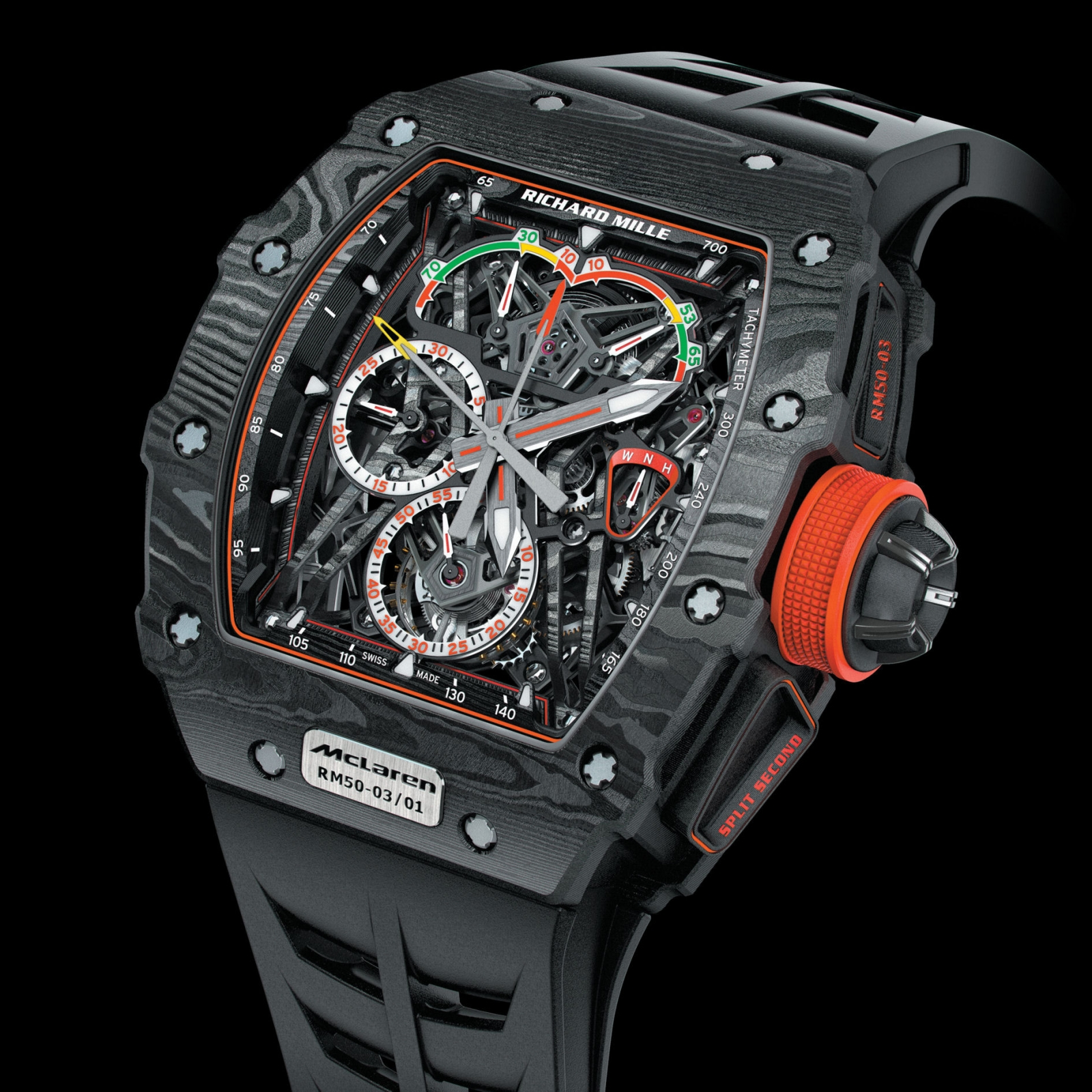 Ultralight mechanical watch made with graphene