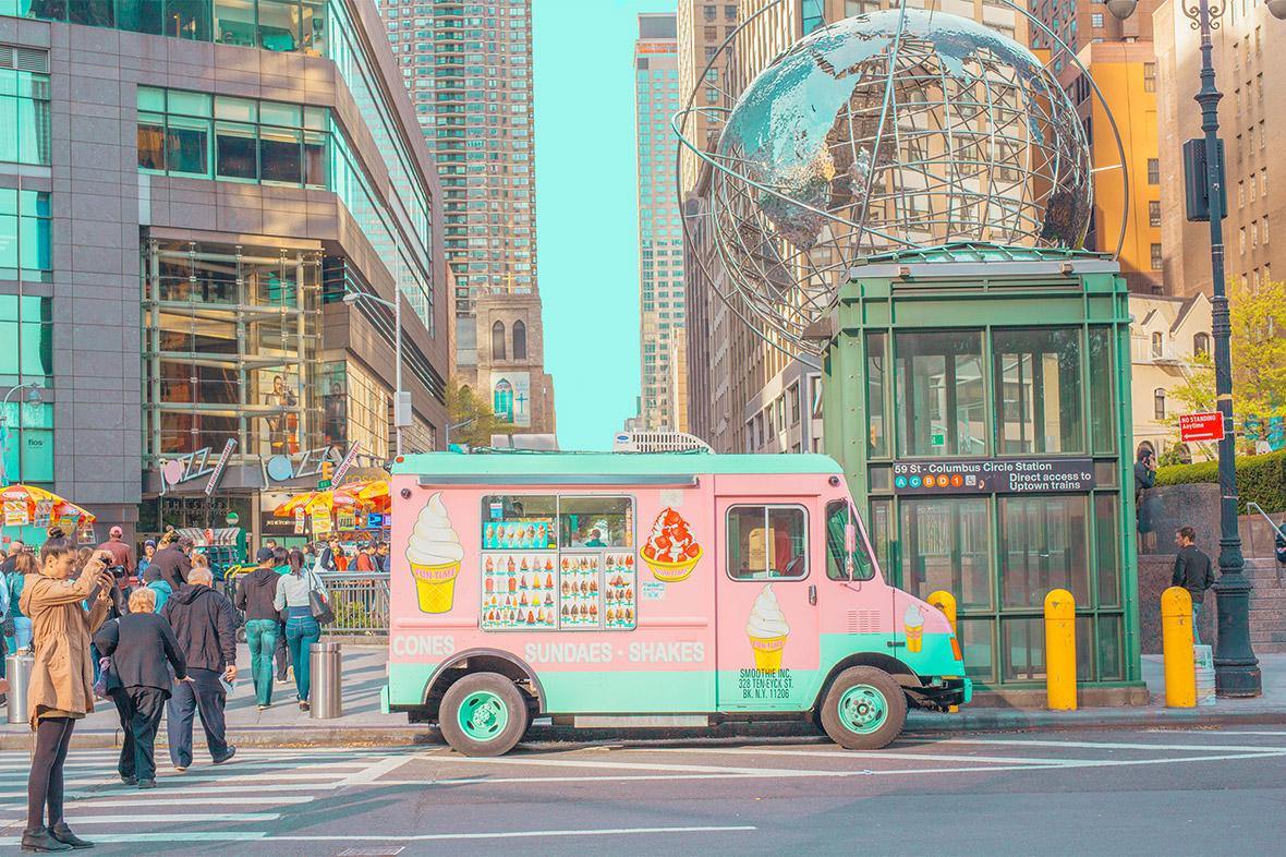 Hyperreal pastel-hued cityscapes by Australian artist Ben Thomas