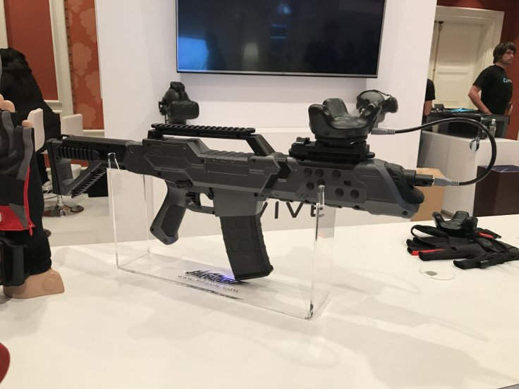 VR gun with HTC Tracker