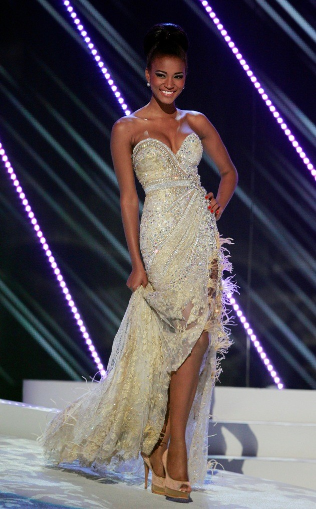 Miss Angola Leila Lopes participates in the Miss Universe 2011 pageant in Sao Paulo