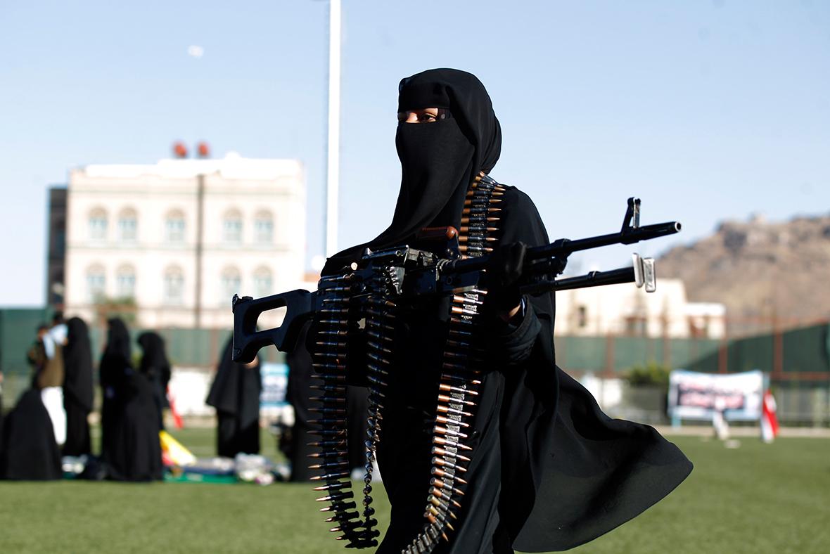 Yemeni female fighters