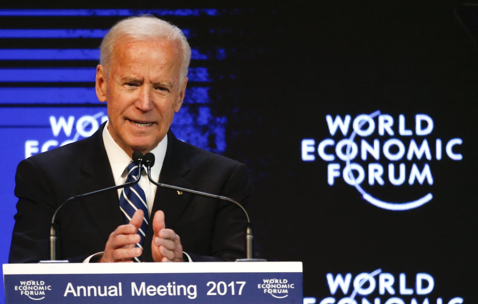 Joe Biden Davos 2017