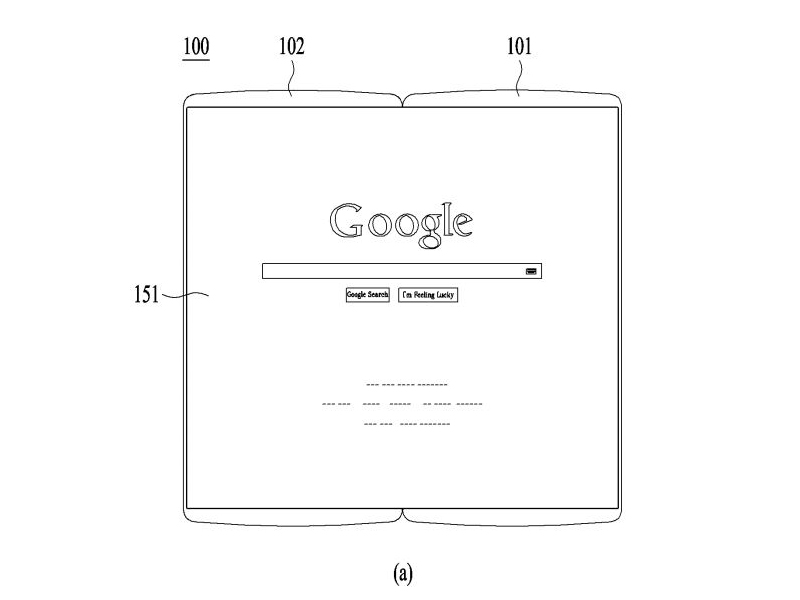 LG patent for flexible mobile device