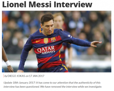 Coach Magazine Lionel Messi interview