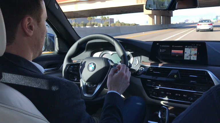 BMW self-driving car hands-on infotainment