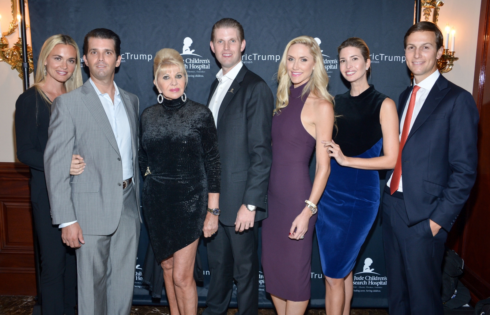 Ivana Trump and her children and partners