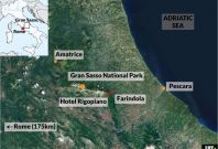 Italy: Farindola avalanche