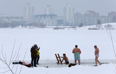 Russian Orthodox Epiphany ice