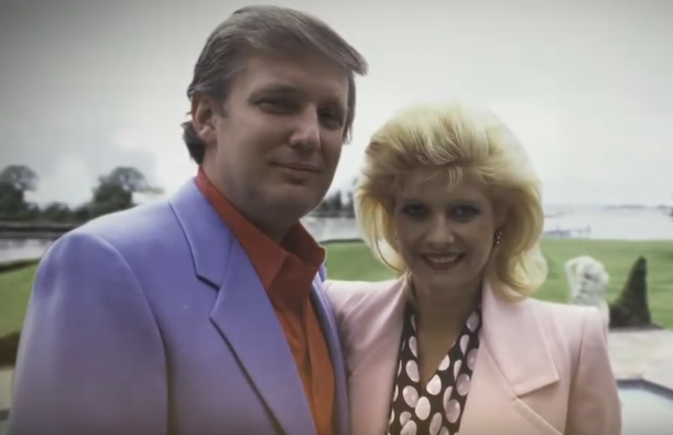 Donald Trump and Ivana Zelnickova