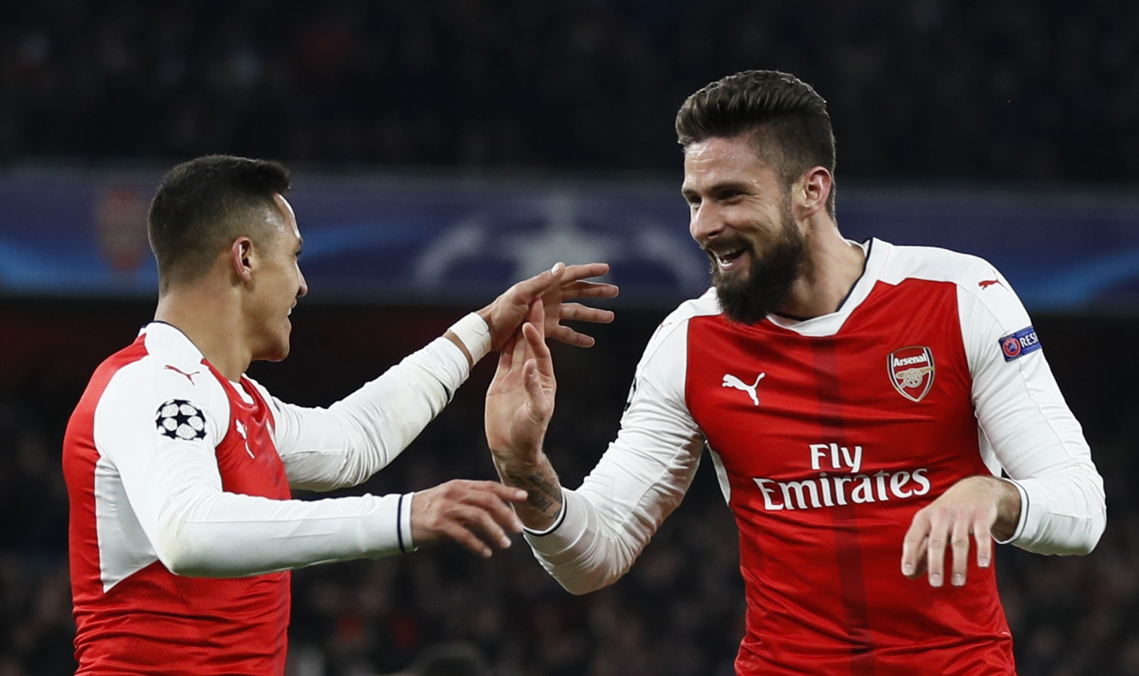 Alexis Sanchez and Olivier Giroud